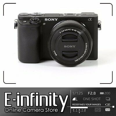 NEW Sony Alpha a6300 Mirrorless Digital Camera with 16-50mm Lens Black