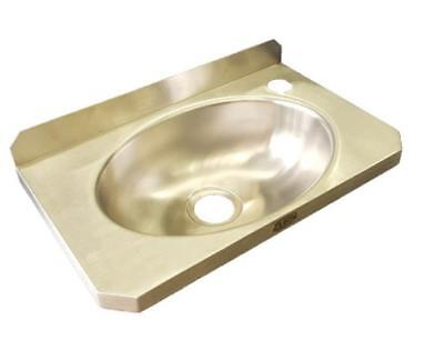 Slimline Hand Wash Basin Commercial Sink Stainless Steel LWG Wall Mount Cafe
