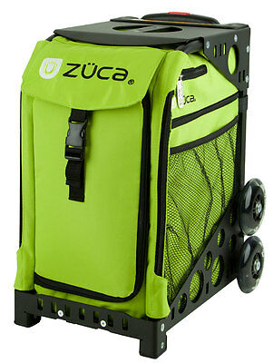"Zuca ""Apple - Lime Green"" Insert Bag with Black Frame - Perfect School Bag!"
