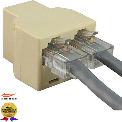 Cat5E RJ45 1 to 2 LAN ethernet Network Cable Splitter Extender