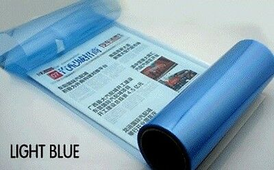 "High Quality Light Blue Headlight Taillight Tint Vinyl Film Sticker 12""x39"""
