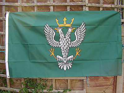 The Mercian Regiment British Army Cap/Beret Badge On Green Colour Military Flag