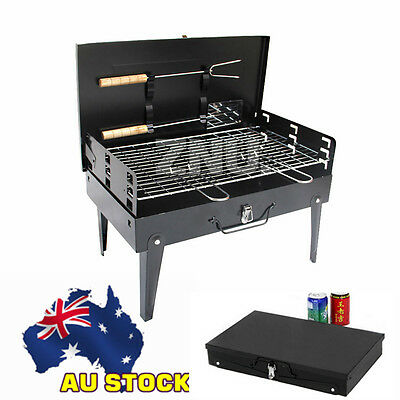 Foldable BBQ Barbecue Pack Portable Camping Outdoor Garden Charcoal Grill