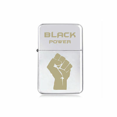 STAR engraved BLACK POWER Rasta Martin Luther King LIGHTER Bob Marley 5 colours