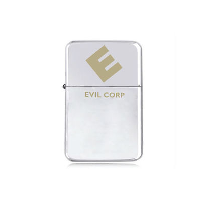 STAR engraved EVIL CORP LIGHTER  MR ROBOT F Society OUR DEMOCRACY 5 colours