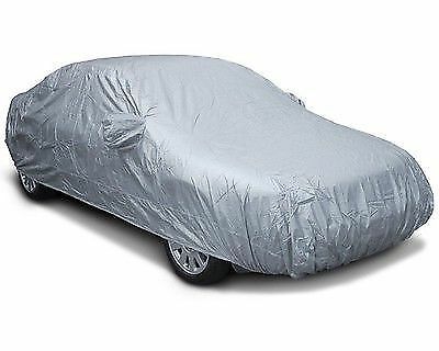 Waterproof Car Cover Outdoor Indooor Uv Protection Breathable Large Size L Grey