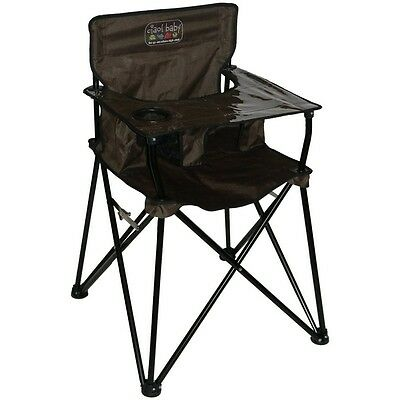Ciao Baby Portable Highchair Chocolate Perfect For Travel Outdoor Camping HB2004