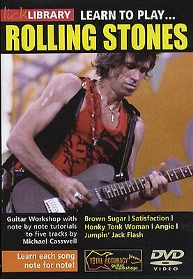 Lick Library: Learn To Play The Rolling Stones Gitarre DVD (Region 0)