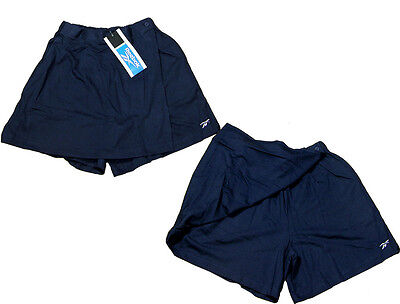 Reebok Tennis Rounders Cricket Running Shorts Skirt Skort  Bnwt Size 10 Navy