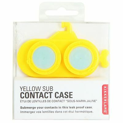 Kikkerland Yellow Submarine Contact Lens Case