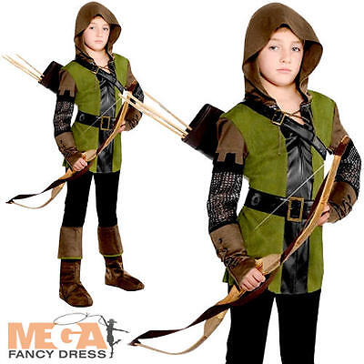 Robin Hood Boys Fancy Dress Prince of Thieves Book Day Kid Childrens Costume New
