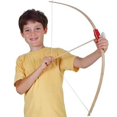 Wooden Bow with 3 Arrows and Target Children's Archery Toy Game Set