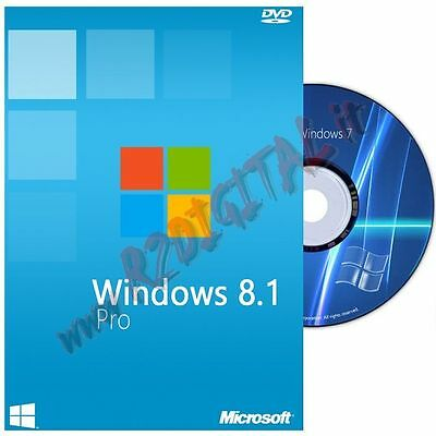 Windows 8.1 Professional Dvd Pack Adesivo Pro 8 32 64 Bit Software Originale Pc