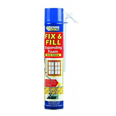 Everbuild Fix & Fill Expanding Foam Filler Gaps And Cracks Adhesive 750Ml Tin