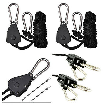 "1/8"" Rope Ratchet YOYO easy Hanger kit for Hydroponics Grow Aquarium Light"