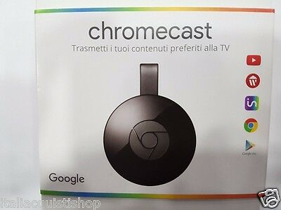 Chromecast 2 Google Streaming Multimediale USB NETFLIX YOUTUBE HDMI WIFI HD