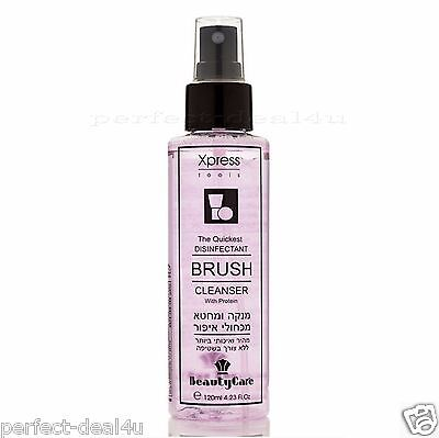 Makeup brush Cleaner liquid Cleanser Disinfectant Spray w/ Protein 120ml 4.23oz