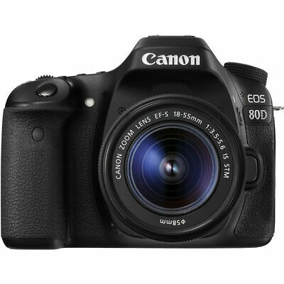 Canon EOS 80D Digital SLR DSLR with EF-S 18-55mm Lens Black
