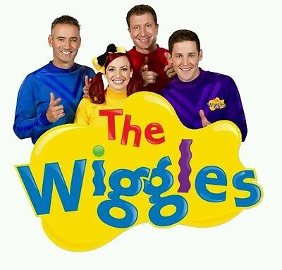 FOR WHITE COTTON The Wiggles -Shirt Value Iron On Transfer #8 --  9x9cms