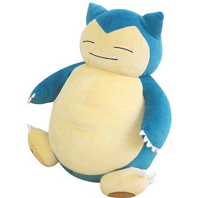 "NWT HUGE 15"" Sanei Snorlax PZ04 Stuffed Pokemon Plush Doll All Star Collection!"
