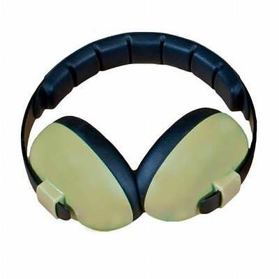 NEW Baby Banz Green Mini Earmuffs Soft Cup Ear muffs Kids Babies Infant Protect