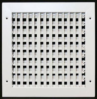 """10"""" x 10"""" ADJUSTABLE AIR SUPPLY DIIFFUSER - HVAC Vent Duct Cover Grille [White]"""