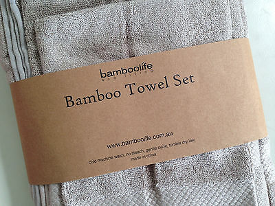2 x Luxury 100% Bamboo Fibre Bath Towel Set RRP $99 - Choose colour/s