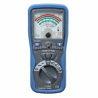 New Pro Analog Insulation Tester Megger Ohm Meter Cat Iii 1000