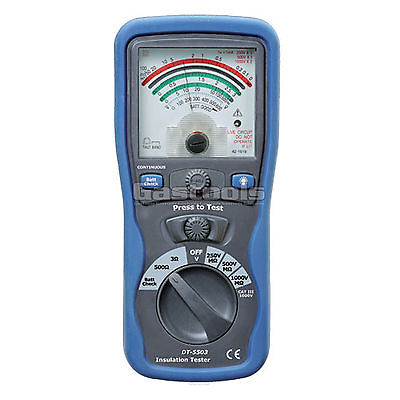 New Pro Analogue Insulation Tester Megger Ohm Meter Cat Iii 1000