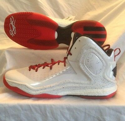 sneakers for cheap a2e91 4319a ADIDAS D Rose 5 Boost Basketball Shoes SZ 18 WhiteRedBlack S85193