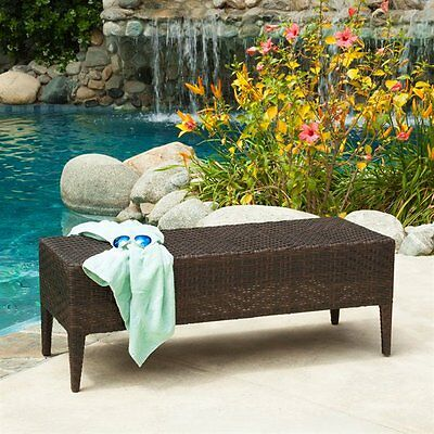 Best Selling Home Decor 218013 Wicker Outdoor Bench