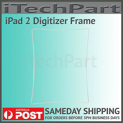 White Touch Screen Digitizer Mid Frame Bezel Replacement Part For iPad 2