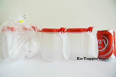 New 2 sets Tupperware Salt N Spice container (4) red preparation 500ml pantry
