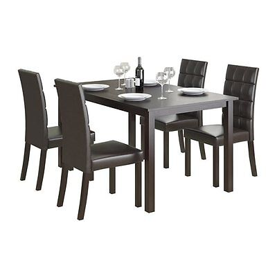 Sonax DRG-795-Z4 CorLiving Atwood 5-Piece Dining Set with Leatherette Chairs