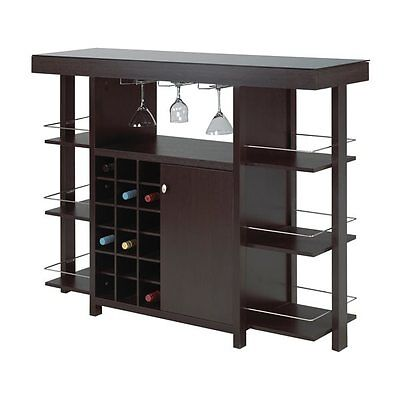 Brassex 12532 Bar with Smoked Glass Top