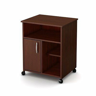 South Shore Furniture 7246B1 Fiesta Microwave Cart with Storage on Wheels