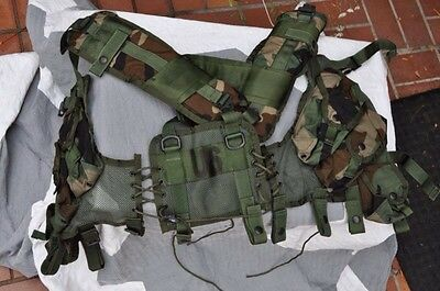 US Army Original Tactical Load Bearing Vest Enhanced Woodland Camo Brand New!