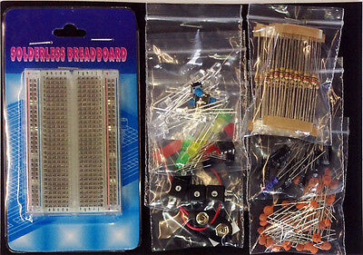 Electronic Project Starter Kit SPECIAL EDITION, Raspberry Pink LED's, + Pi wires