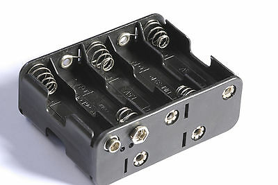 AA AAA 9v BATTERY HOLDERS and CLIP 1 2 3 4 6 8 10 LEADS STUD SWITCHED UNSWITCHED