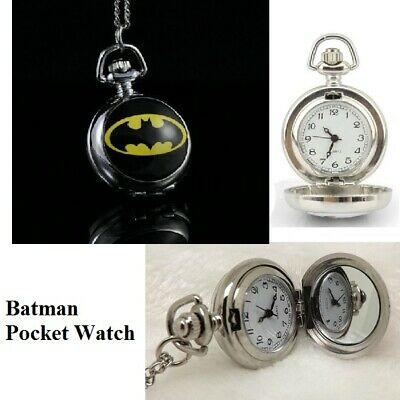 Batman Stainless Steel Pocket watch necklace Christmas Birthday Gift Perth