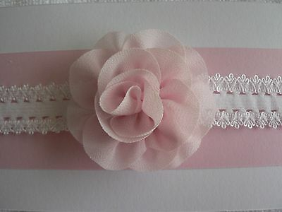 "Assorted Colours Newborn/Baby/Toddler/Girl Headband With 2.25"" Chiffon Flower"