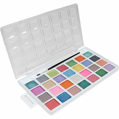 Artist's Loft Pearlescent Watercolour Pan 24 Colours Pack Box Painting Art