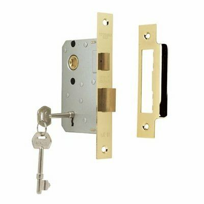 "10 X 75mm (3"") 3 Lever Mortice Sashlock - Brass Plated"