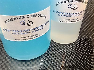 Epoxy Resin System for Carbon Fiber - Kevlar 3:1 High Strength 1 Gallon/128oz.