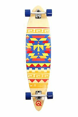 Quest Tribes Pin Kick Tail Longboard Skateboard 40-Inch Quest New