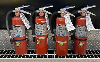 Set of (4) 5lb ABC FIRE EXTINGUISHER AND CERTIFIED TAG (SCRATCH/DIRTY)