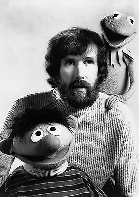 Art print POSTER / Canvas Jim Henson With Kermit The Frog and Ernie