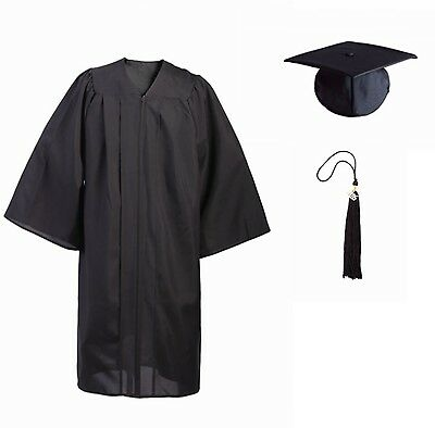 Black Bachelor's Graduation Cap and Gown, Tassel & 2016 Charm, XX-Large, Matte
