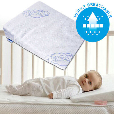 BRAND NEW Baby Wedge Anti Reflux Colic Pillow Cushion Pram Crib Cot Bed 30 x 37