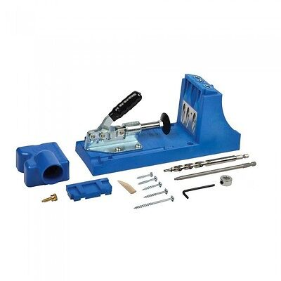 Kreg Jig Pocket Hole Joinery Kit with Removable Drill Guide Carpentry Tools K4